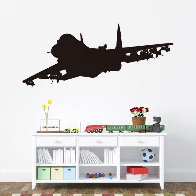 Jet Airplane Wall Decals Waterproof Vinyl Kids Room Stickers Home Decor  Aircraft Wallpaper