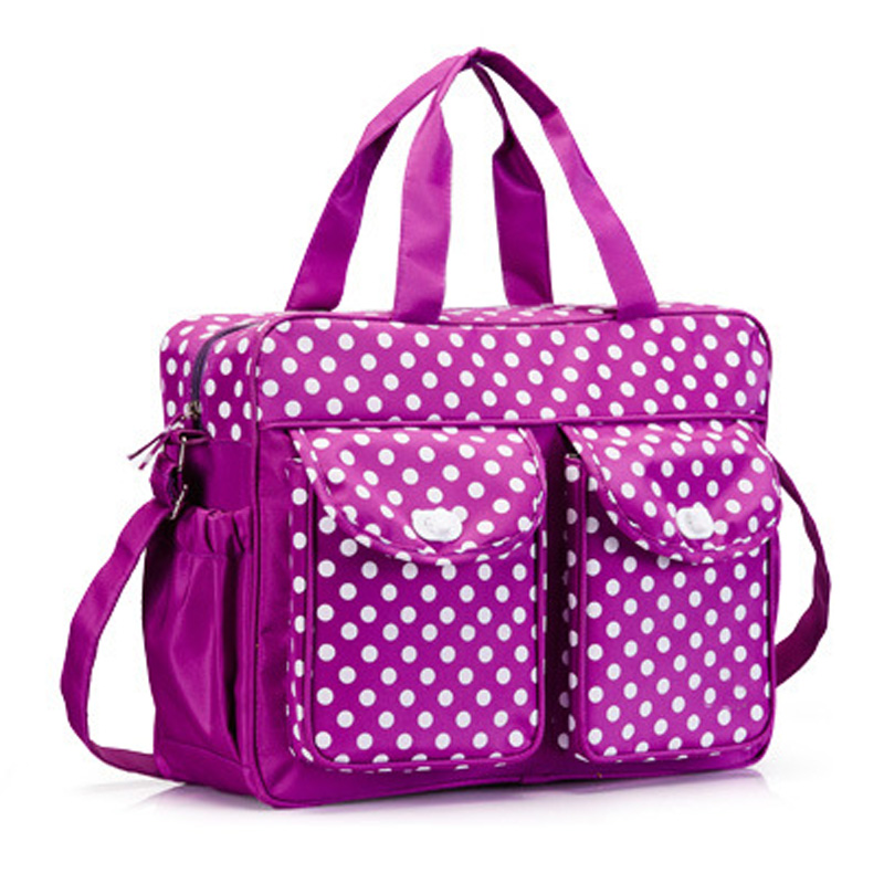 Hot Sale 3Pcs/set High Quality Baby Care Nappy Changing Mummy Bag Multifunctional Polka Dot Mummy Maternity Handbag WJ0175