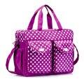 Hot Sale 3Pcs/set High Quality Baby Care Nappy Changing Mummy Bag Multifunctional Polka Dot Mummy Maternity Handbag WJ0175
