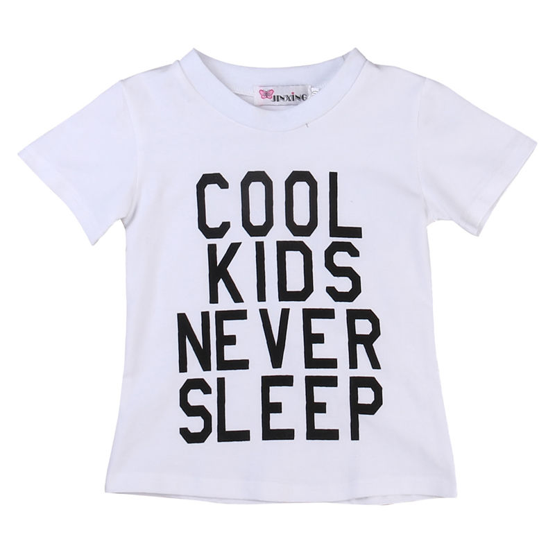 New Kids Toddlers Baby Boys Cool T Shirt Summer Short Sleeve Tops Cotton Tee Casual Clothes 1-6Y