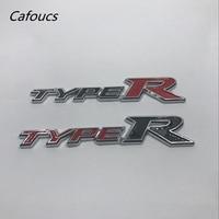 Type R Emblem Badge Sticker For Honda Civic Rear Trunk Typer Logo Nameplate Decal