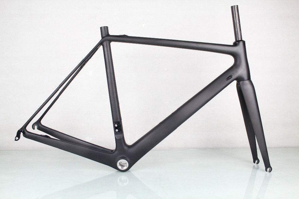 June preference Road Bike Carbon Frame&Fork Compatible Di2 UD Matt BSA OEM Carbon Bicycle Frameset FM296 carbon matt road bike frameset for bsa 54cm frame fork seatpost clamp