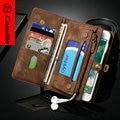 Для iPhone 7 Plus Case CaseMe Бренд Натуральной Кожи, Новое Прибытие Для iPhone 7 Plus крышка, Многофункциональный Бумажник для iphone7 Плюс