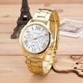 Relojes de las mujeres Marca de Moda Números Romanos Del Reloj de Señoras Vestido Reloj de Oro de Acero Inoxidable de Cuarzo Reloj de pulsera de Regalo Montre Femme