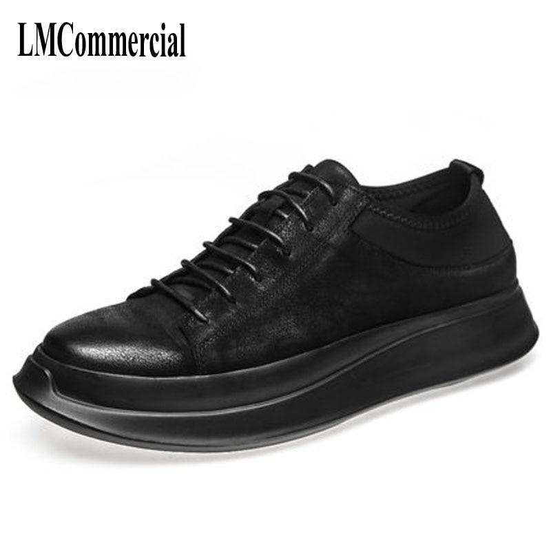 الأوروبية برو الكورية بولو أحذية سوليد حذاء كاجوال الأسود الصغيرة القذرة أحذية خمر أحذية من الجلد-في أحذية رجالية غير رسمية من أحذية على  مجموعة 1