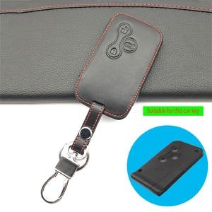 Image 4 - 100% leather car key case key cover for Renault Clio Dacia Logan Sandero Megane Modus Espace Kangoo keychain Remote control case