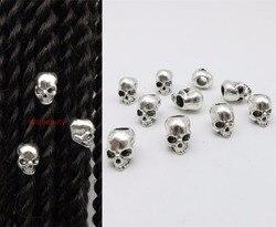 Freies verschiffen 10 teile/los viking Tibetischen silber haar braid furcht bart dreadlock perlen clips manschetten ca. 5mm loch