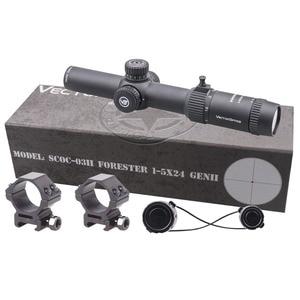 Image 5 - וקטור אופטיקה GenII פורסטר 1 5x24 Riflescope 30mm מרכז דוט מואר מתאים AR15 .223 7.62mm Airgun Airsoft ציד היקף