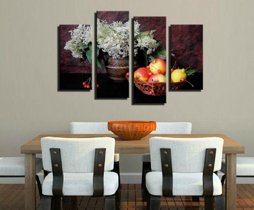 Pintura al óleo sin marco de imagen en la pared para comedor ...
