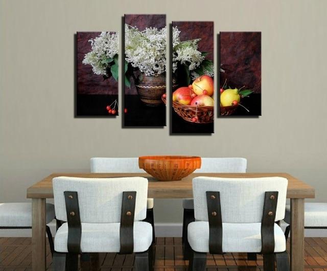 Pintura al óleo sin marco de imagen en la pared para comedor único ...