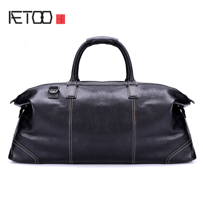 AETOO New leather travel bag mens portable large capacity business travel  bag first layer leather bagAETOO New leather travel bag mens portable large capacity business travel  bag first layer leather bag