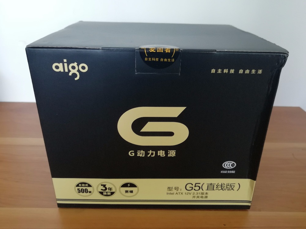 Aigo G5 active power supply Rated power 500W Max power 600W 12V atx pc desktop computer power supply fuente de alimentacion цена
