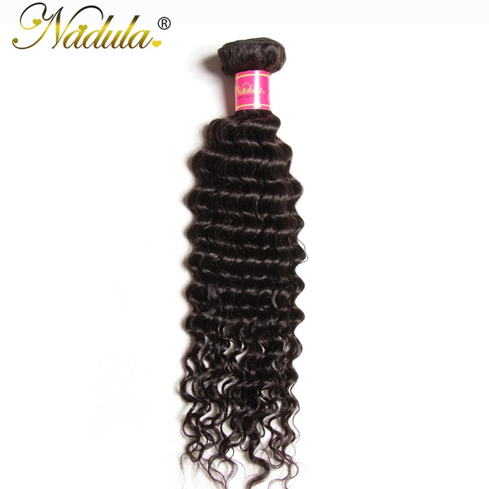 """""""Nadula"""" plaukai, turintys gilų bangą, 100% žmonių plaukų - Žmogaus plaukai (juodai)"""