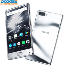 Original DOOGEE MIX Mirrow Silver Smartphone Android 7.0 Dual Cameras 5.5Inch MTK Helio Octa Core 6GB+64GB LTE 3380mAh P25(China)