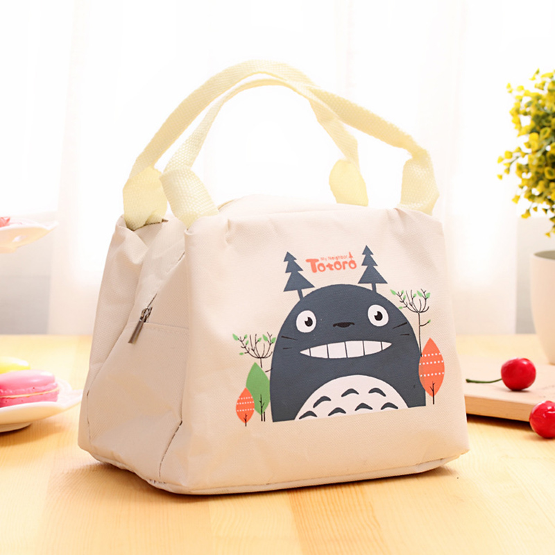 Cute Cartoon Cotton Picnic Outdoor Picnic Bag Ice Pack Fresh 2 Layer Car Ice Pack Women