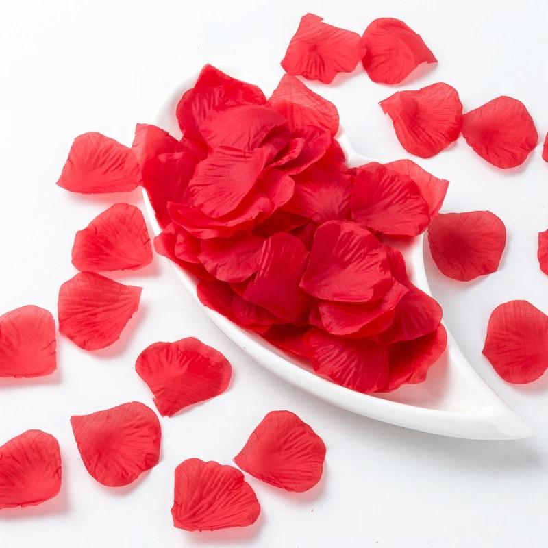 500 PCS Silk Rose Petals Wedding Bridal Party Flower Decoration Favor US Seller