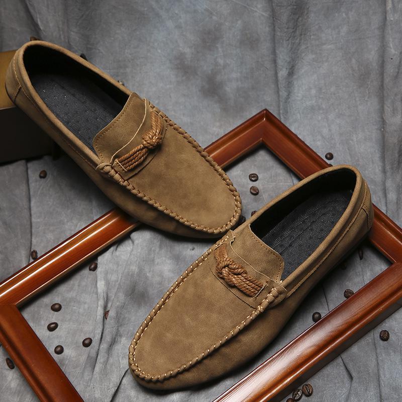 Conduite Paresseux Chaussures gris 2017 Noir jaune Hommes Simples Nouveau De Confortable RO1X1qY