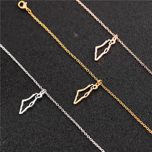 Tiny Charm Pendant Outline Pride Jewish Judaica Jerusalem Hebrew necklace Asian Country Stat Hollow Map Israel hometown Necklace недорого