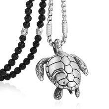 Мужской панк кулон в виде морской черепахи из нержавеющей стали