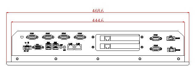 6U industriële computer, rackmontage, 12,1 inch LCD, D2550 CPU (4 / - Industriële computers en accessoires - Foto 2