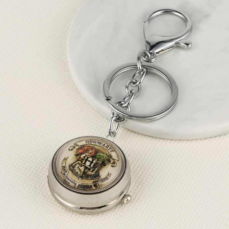 Keychain Watch Harrg Potter The Little Prince G Masonic Theme Quartz Hanging Watch Charms Key Chains Jewelry Bag Key Holder Gift