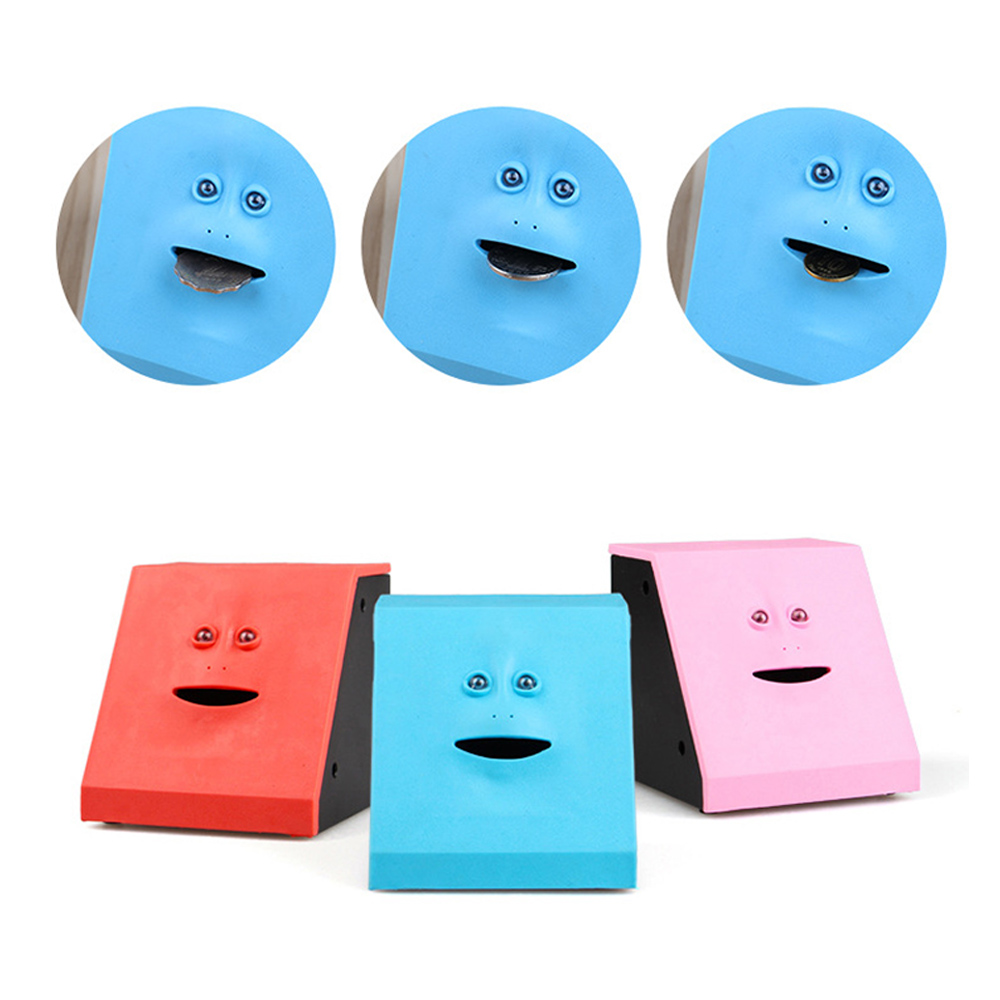 UK Funny Facebank Face Bank Sensor Coin Eating Saving Money Box Child Kids Gift