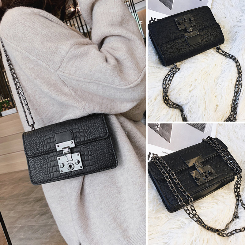 Fashion Metal Buckle Design Female Small Square Pack Luxury Plaid Chain Women Crossbody Bags High Quality Trend Phone Lady Totes