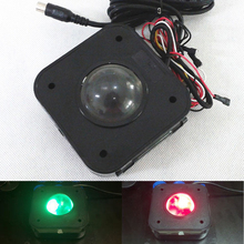Arcade 4.5CM Illuminated LED Trackball mouse PS/2 PCB connector for Jamma mame game machines