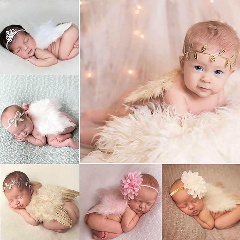 Traje de alas de ángel para bebés recién nacidos