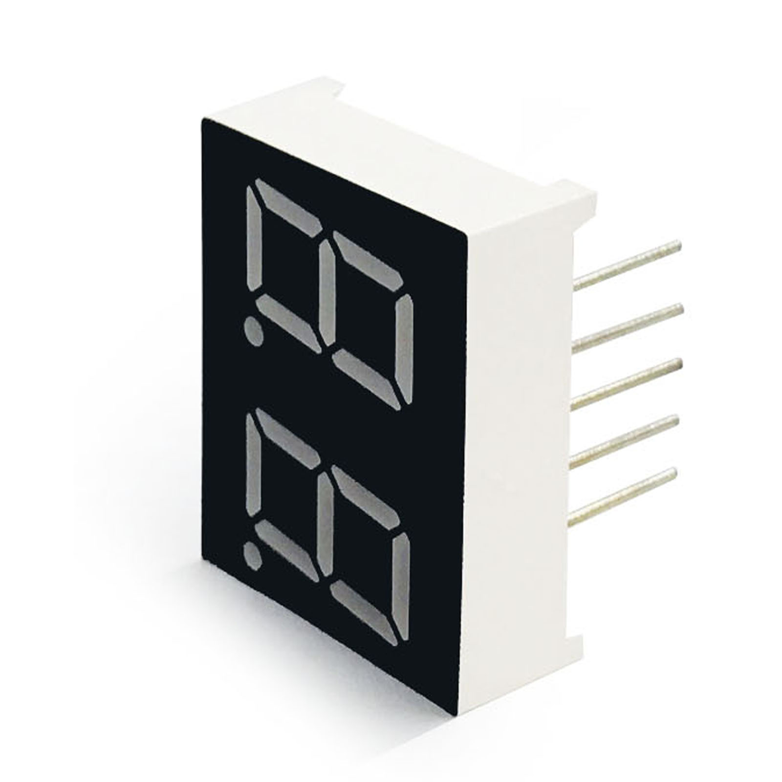 MCIGICM 100pcs Common Anode 2 Bit Digital Tube 0.4