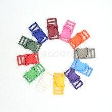 """12 шт. 3/""""(11 мм) цветная пластиковая пряжка с кошачьей головкой, безопасная разъемная Пряжка для кошачьего воротника, Паракорд, браслет, Аксессуары для бюстгальтера"""