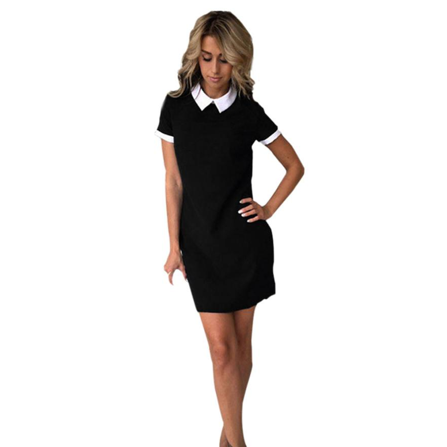 snowshine YLI Women Summer Casual Short Sleeve Evening Party Dress Short Mini Dress free shipping