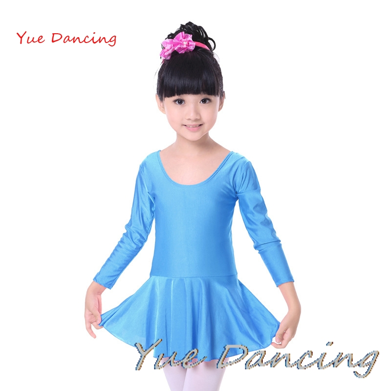 Long/Short Sleeves Spandex Ballet Leotard For Girls Kids Gymnastics Leotard Girls Dancewear Children Ballet Dress Dance Clothes