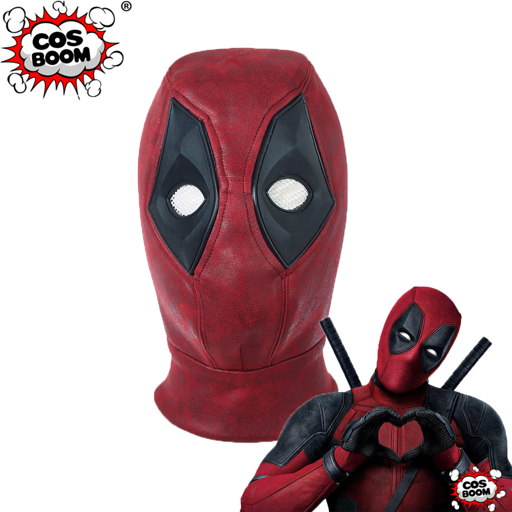 COSBOOM Deadpool 2 Deadpool Mask Leather Adult Halloween Carnival Cosplay Props Full Face Mask Deadpool Cosplay