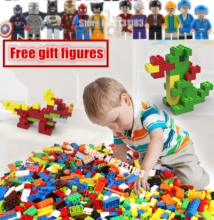 DIY Educational model Building kit Brick City Creative Brick Toys Building Blocks Bulk Bricks Compatible With Lego kid gift set superwit 72pcs big size city diy creative building blocks brick compatible with duplo sets lepin educational toys children gifts