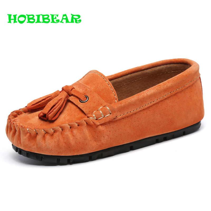 HOBIBEAR אביב סתיו ילדי שטוח נעלי בני תינוק יוקרה מותג נעלי ילדים בני נעלי מעצב אופנה ילדים מוקסינים זול