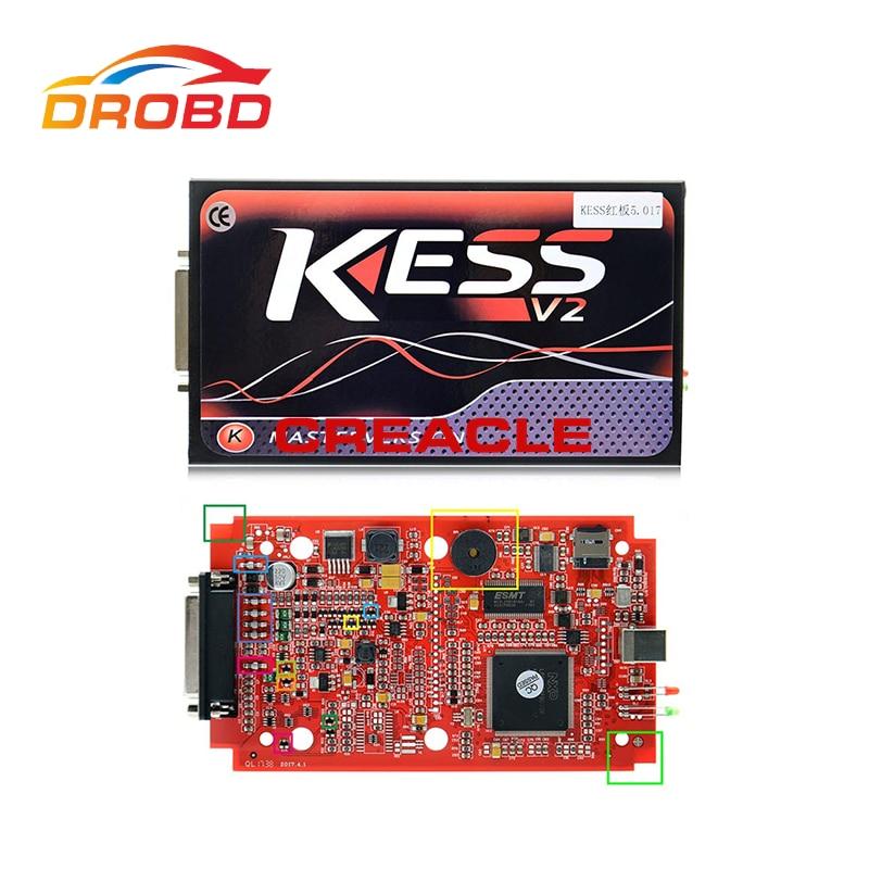 KESS V2 V5.017 Red PCB No Token Limited with ECM Titanium ECU programming tool Car/Tractor/Bike Kess V2.23 Master Version
