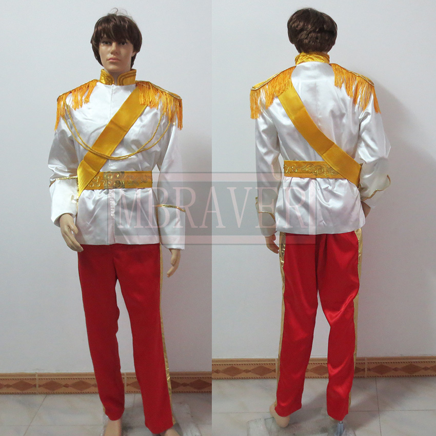 Cinderella Prince Charming Costume Uniform Suit Outfit Cosplay Costume