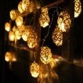 20pcs Sepak Takraw Ball rattan Strip Light Wedding christmas Party decoration nightlight home decor