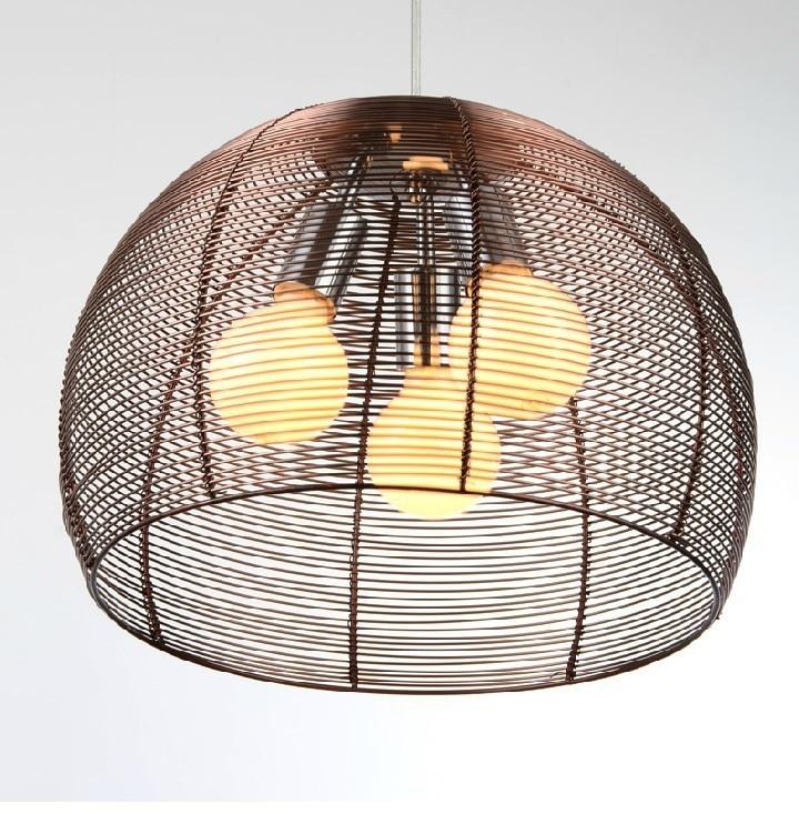 modern minimalist pendant lamps bar restaurant chandelier lighting lamps bedroom living room den aluminum wire lights цена и фото