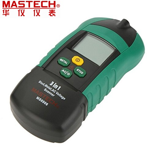 New MASTECH MS6906 3 in 1 Multi-function Stud Metal AC Voltage Scanner Detector Tester Thickness Gauge w/ NCV Test