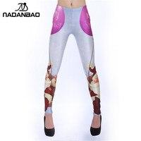 2016 New Design Custom Bulk Cute Legins Yoga Fitness Leggins Printed Women Leggings KDK1285