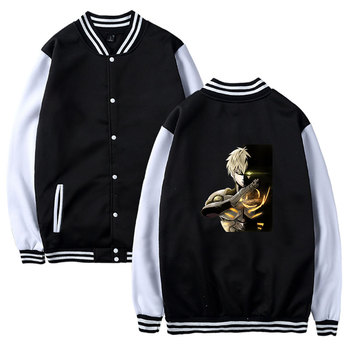 Anime One Punch Man Hoodie One Oppai Cosplay Baseball Jacket Coat Sweatshirt