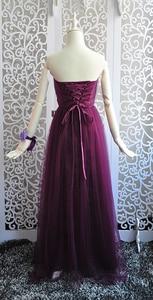 Image 3 - Bruidsmeisje Jurken Elegante Lange Wedding Party Dress Plus Size Royal Prom Zus Gast Bruidsmeisje Jurk Tule Robe Soiree 960