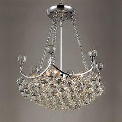 Kryształowe żyrandole oświetlenie oprawa LED nabłyszczania de cristal światła z LED żarówki do salonu lampy wiszące darmowa wysyłka