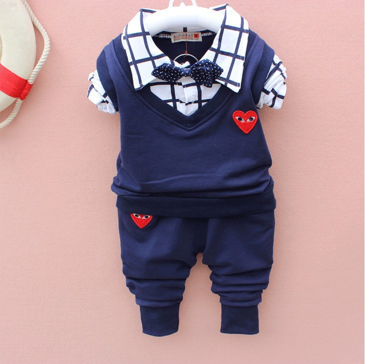 Baby Boy Clothes 2017 Spring New Brand Gentleman Plaid