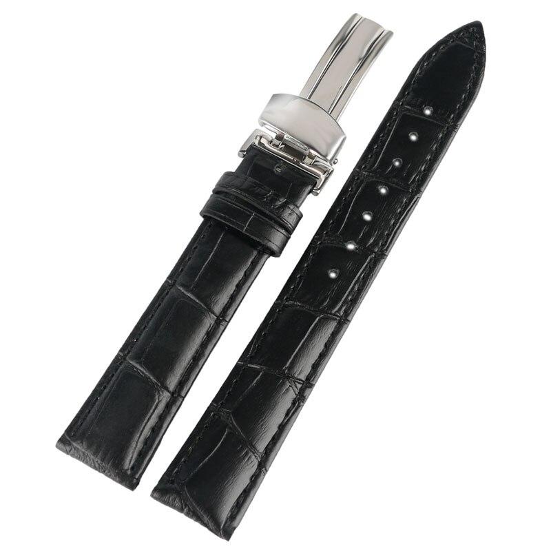 18mm/20mm/22mm Genuine Leather Watchband Deployant Watch Band Strap Buckle Bracelet Watchbands