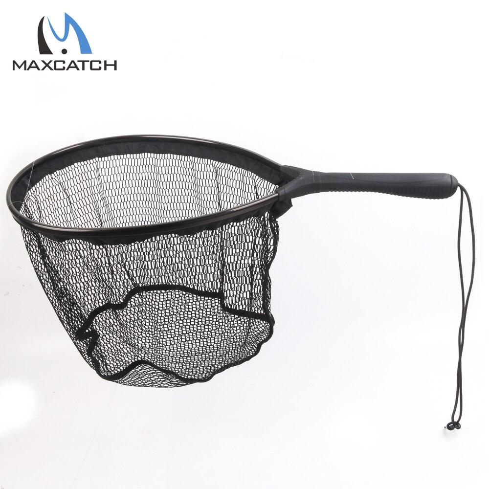 Maximumcatch fly fishing landing net flat bottom nylon for Fish landing nets