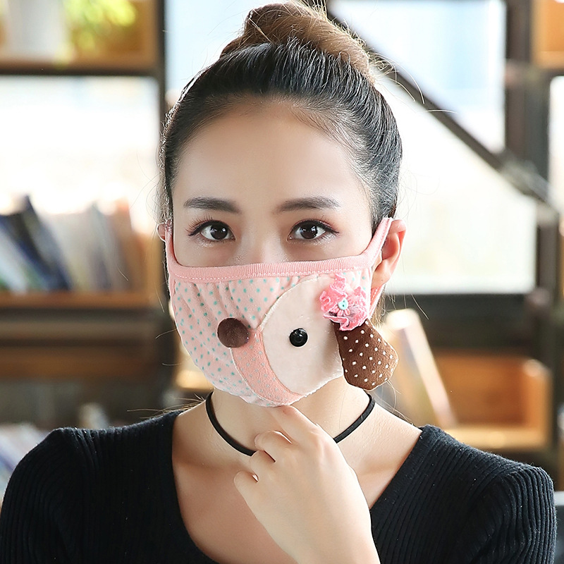 10pcs/Pack XG Winter Mask Female Riding Dustpr Men And Women With Warm Thick Dust Thickening Ms. Masken Thick Masks Wholesale