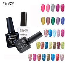 Elite99 10ml Bling Color UV Nail Gel Polish Diamond Glitter Sequins Nail Varnish Soak Off Colorful Nail Art Manicure Gelpolish
